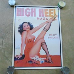Sexy Vintage Pinup Girl High Heel Magazine Poster, New cond
