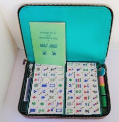 MahJong Set with Carrying Case, Slightly Used