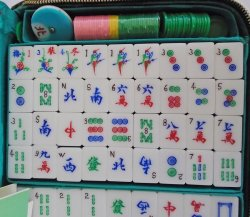 '.Mahjong Tile Set, Near New.'