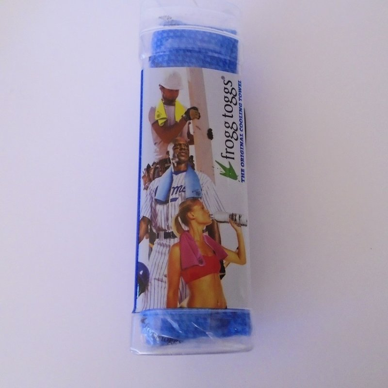 Chilly Pad Body Cooling Towel from Frogg Toggs. New, never opened. 33 by 13 inches. Latex free. Machine or hand wash.