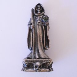 Grim Reaper, Gorham Magic Crystal Chess Piece, Pewter