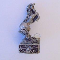 Knight Unicorn, Gorham Magic Crystal Chess Piece, Pewter