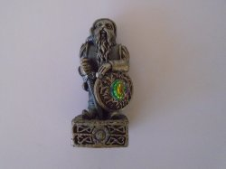 Dwarf of Freedom, Gorham Magic Crystal Chess Piece, Pewter