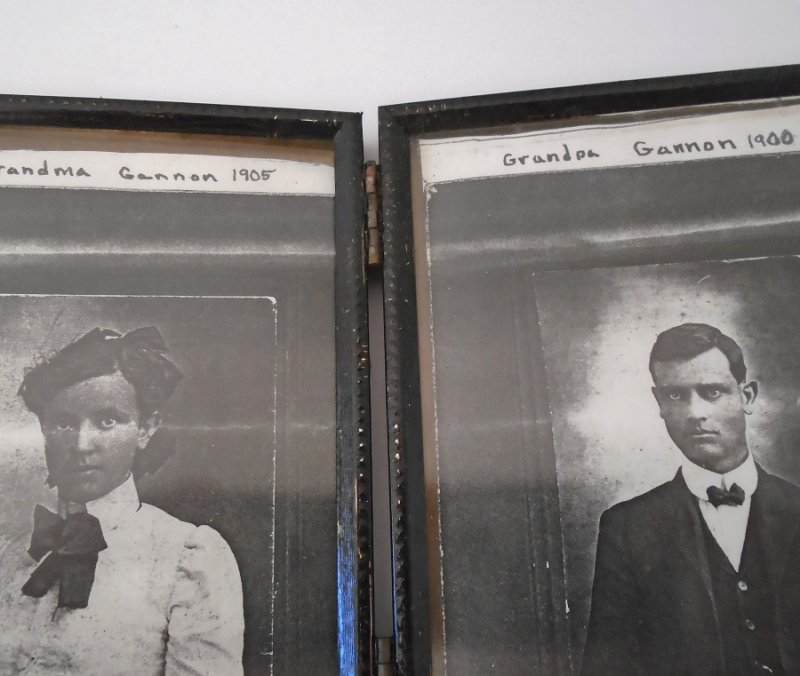 Grandma and Grandpa Gannon from Linnet Gannon family photocopies. 1800s to 1900s time frame.
