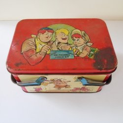 Joe Palooka Lunch Box Kit with Cup, Dated 1948