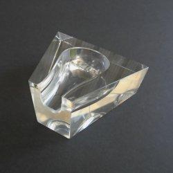 Aldon Pipe Rest Holder, Clear Lead Crystal, Estate Find