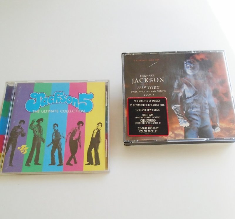 Michael Jackson History Past Present Future music CD plus Jackson 5 Ultimate Collection CD. Great condition, plays perfectly.
