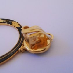 '.Damascene clip on earrings.'