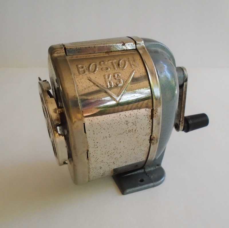 Boston L Pencil Sharpener 1950s Possible Military Issue