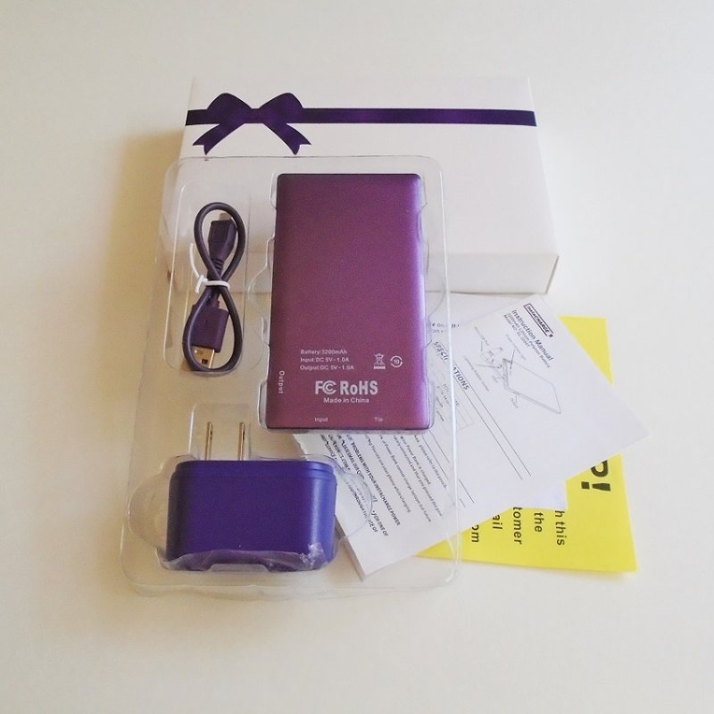 Instacharge Portable Power Bank for travel home and office. New, in original box. Never used.