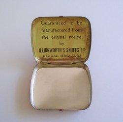 '.Dr Rumneys 1940s snuff tin.'