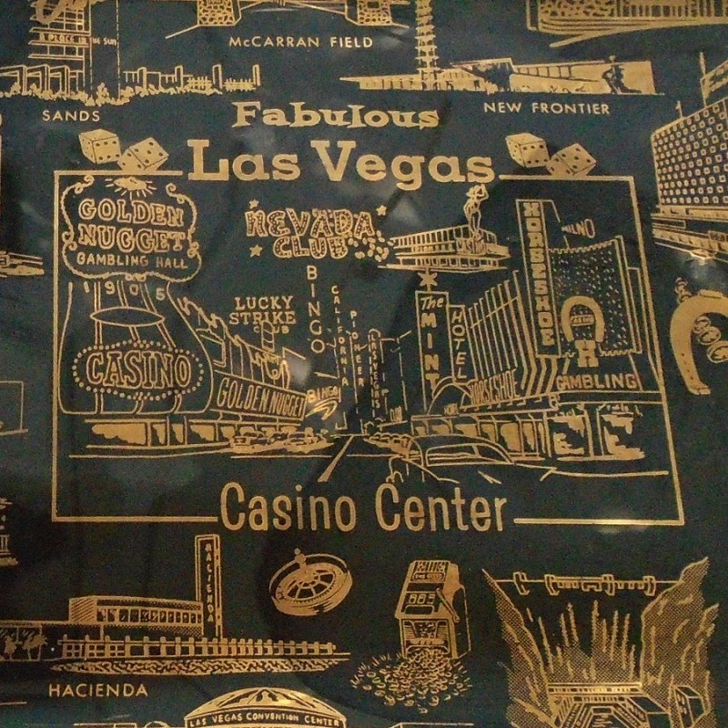 Pre 1977 Las Vegas souvenir plate. Many closed casinos - Mint, Sands, Dunes, Thunderbird, Hacienda, Stardust, Showboat, others.
