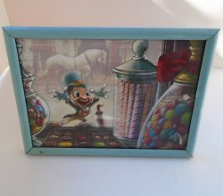Jiminy Cricket of Disney Pinocchio Fame Framed Postcard 1979