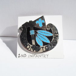 2nd Infantry, U.S. Army, Second to None DUI Insignia Pin