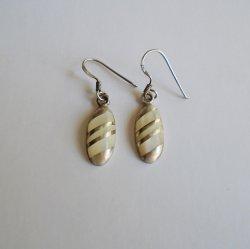 Moonstone and 925 Sterling Silver Pierced Earrings