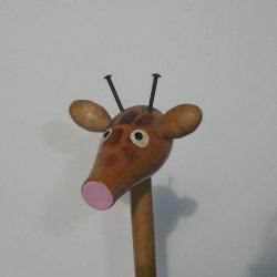 '.Wood Giraffe, 14 inch.'