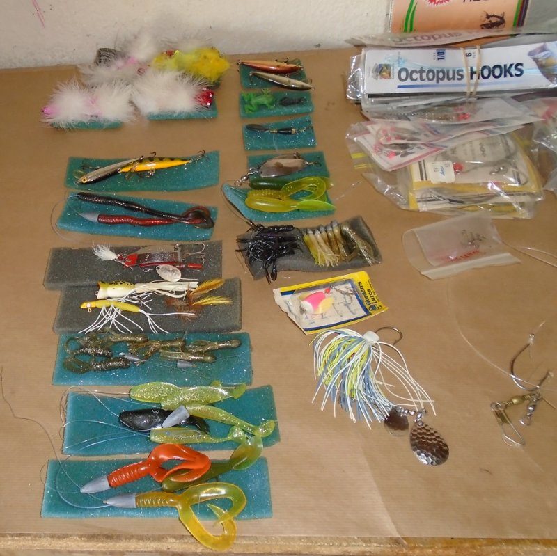 Large amount of fishing tackle including lures, rigs, spinners, hooks, weights, leaders and misc fishing supplies. Estate purchase.
