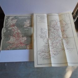 Vintage British and Ireland Railway Streamer and Train Maps