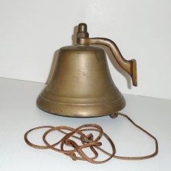 Brass Bell, 5x6 inch, Vintage, School Nautical Farm