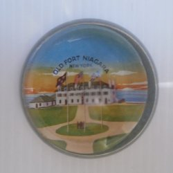 Vintage Old Fort Niagara New York Paperweight, Very Old
