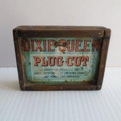 Dixie Queen Plug Cut Tin Top Wall Art, circa 1910