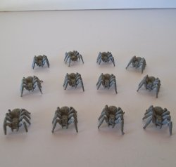 Warhammer Spiders, 1 inch, Qty of 12, Unpainted