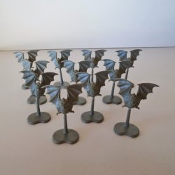 Warhammer Flying Bats, Qty of 11, Unpainted, 1.75 inch tall