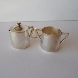 Cecilware Vintage Silver Soldered Sugar Creamer Set C41