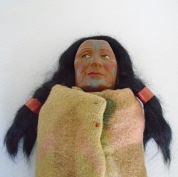 '.American Indian Skookum Doll.'