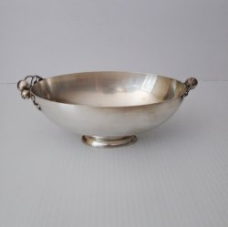 Wilcox Vintage Silver Apple Bowl, IS, 2583