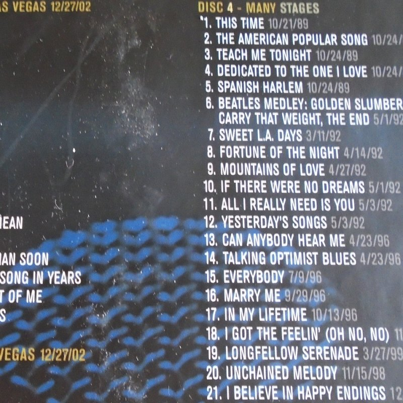 CD 4 songs on Neil Diamond Stages. 6 CD set covering years of 1970 - 2002. Total of 95 of his greatest recordings.