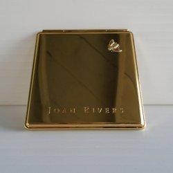 '.Gold tone purse compact mirror.'