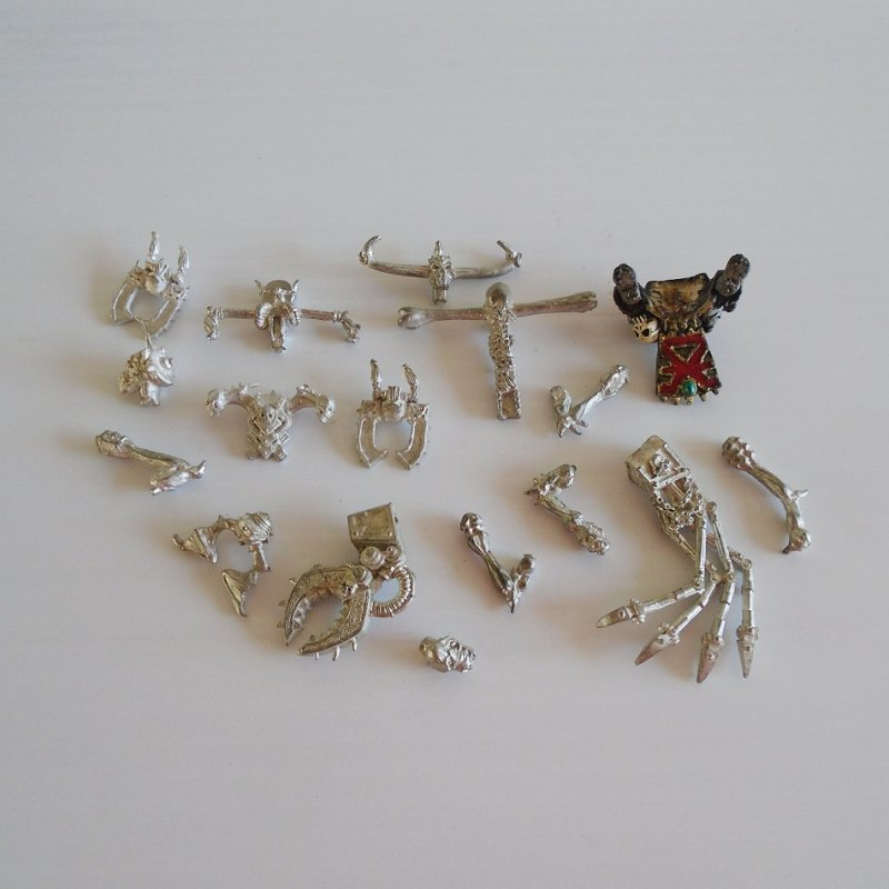 Games Workshop Warhammer 17 misc metal warrior upper body parts. May also be for the Dungeons and Dragons or Mage Knight game.
