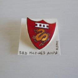 3rd Amphibious Corps. USMC DUI Insignia Pin