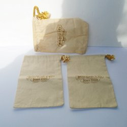 Wells Fargo Bank Canvas Cloth Bags, 3 Small