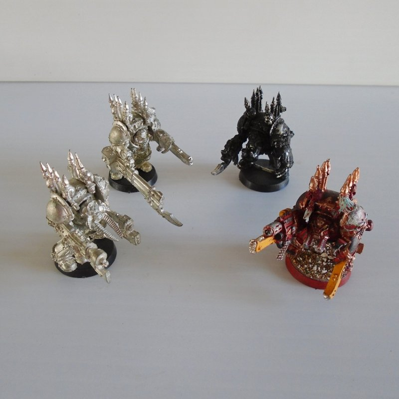 Games Workshop Warhammer, Dungeons and Dragons, Mage Knight. 4 shooting monsters. All are metal, 2 painted, 2 unpainted.