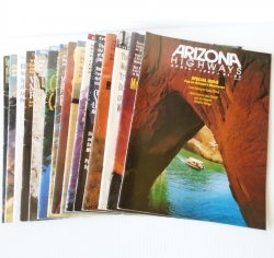 Arizona Highways Magazine, 15 Back Issues, 1990 - 1998