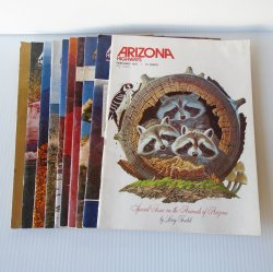 Arizona Highways Magazine, 10 Back Issues, 1976 - 1977
