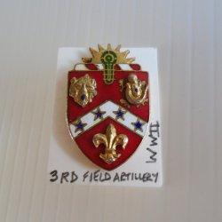 3rd Field Artillery, U.S. Army, WWII DUI Insignia Pin