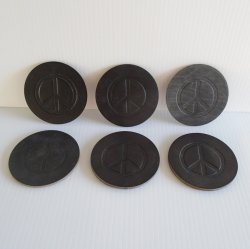 '.Peace Sign coasters.'