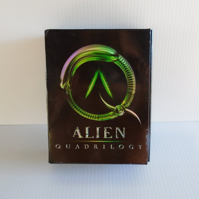 Alien Quadrilogy. 9 Disc set that includes Alien, Aliens, Alien 3, Alien Resurrection, and an Alien Evolution documentary. Over 50 hours of viewing.