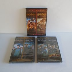 Harry Potter Double Feature DVDs, 3 Unopened Years 1,2,3,4,7
