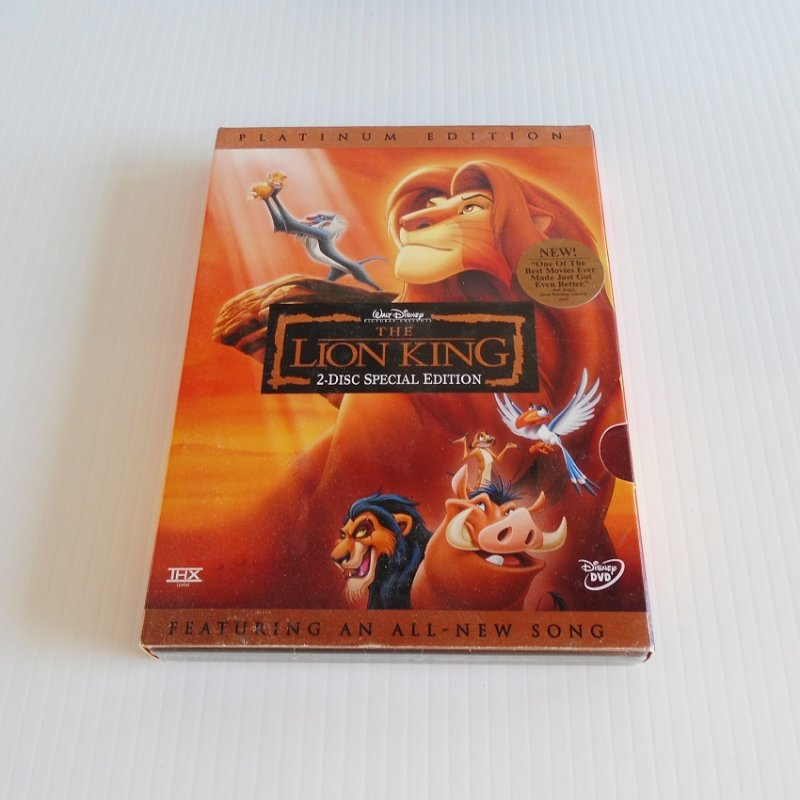 New and unopened Walt Disney's Lion King. 2 DVD Platinum Edition. Rated G. Approximate running time is 90 minutes.