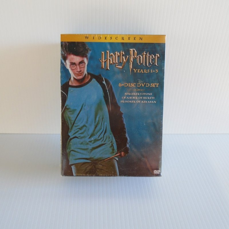 New and unopened Harry Potter Years 1-3. Sorcerer's Stone, Chamber of Secrets, Prisoner of Azkaban, plus additional scenes all on 6 DVDs