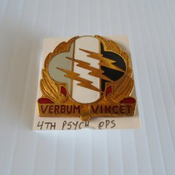 4th U.S Army Psychological Operations Group DUI Insignia Pin