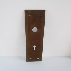 Antique Doorknob Back Plate, 7x2.25 inch, Architectural Salvage
