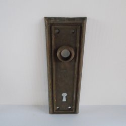 Doorknob Back Plate Antique 7x2.25 in Architectural Salvage