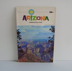 Arizona Aeronautical Chart 1968 Airports, Mines, Flight Path