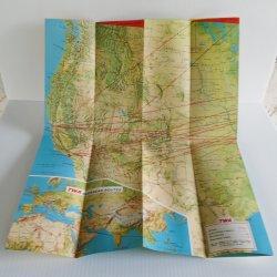 '.TWA 1956 Air Routes Map.'
