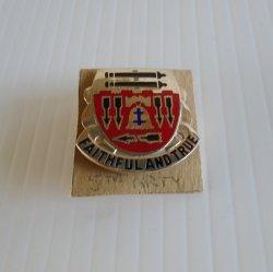 5th U.S Army Field Artillery Battalion Faithful True DUI Pin